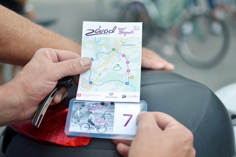 Mapička a startovací číslo